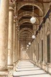 Galleria della moschea di Mohammed Ali a Cairo Immagini Stock