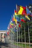 Galleria delle bandiere nazionali Immagine Stock Libera da Diritti
