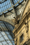 Galleria detail, Milan. Detail of decoration at famous arcade in city center,  shot in bright light Royalty Free Stock Image