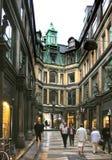 Galleria di acquisto a Copenhaghen Fotografia Stock