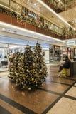 Galleria di acquisto a tempo di Natale Immagini Stock