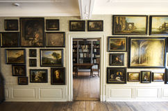 Galleria di immagini e biblioteca in Goethe& x27; birthhouse di s a Francoforte fotografia stock