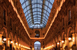 Galleria di Milano del Duomo Fotografia Stock Libera da Diritti