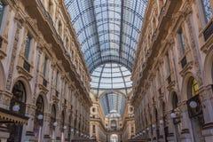 Galleria di Vittorio Emanuele di Milano Immagini Stock Libere da Diritti