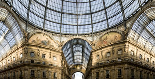 Galleria di Vittorio Emanuele II Fotografia Stock