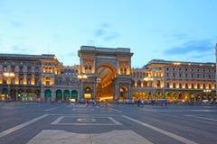 Galleria di Vittorio Emanuele II a Milano Immagini Stock Libere da Diritti