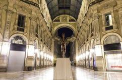 Galleria di Vittorio Emanuele a Milano fotografia stock