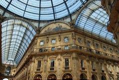 Galleria Emanuele Vittorio, Milaan Stock Foto's