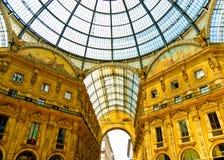 Galleria magnifica di Vittorio Emmanuele, Milano Immagine Stock Libera da Diritti