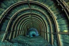 Galleria nella miniera di sale fotografia stock