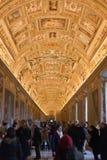 Galleria in palazzo papale a Vatican Fotografia Stock