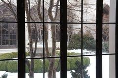 Galleria più libera di arte, cortile nell'inverno Immagini Stock