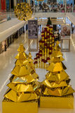 Galleria Sao Paulo för julgran JK Arkivfoto