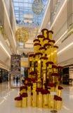 Galleria Sao Paulo för julprydnad JK Arkivfoton
