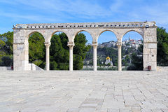 Galleria su Temple Mount e sulla chiesa di Maria Magdalene, Gerusalemme Fotografia Stock