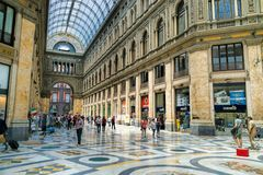 Galleria Umberto, Νάπολη, Ιταλία στοκ εικόνα με δικαίωμα ελεύθερης χρήσης