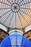 Galleria Umberto della galleria di acquisto I a Napoli, Italia immagine stock libera da diritti