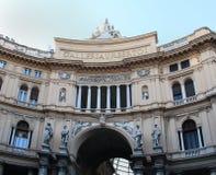 Galleria Umberto I Nápoles Foto de archivo