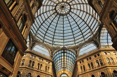 Galleria Umberto I, Naples. This picture shows the Galeria Umberto I, a historic shopping mall in Naples, Italy Stock Photo