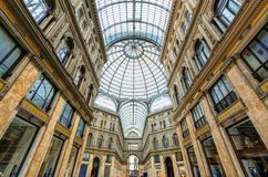 Galleria Umberto I in Naples, Italy Royalty Free Stock Photography