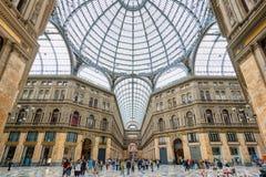Galleria Umberto I a Napoli, Italia Fotografia Stock Libera da Diritti