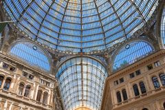 Galleria Umberto I, openbare het winkelen galerij in Napels royalty-vrije stock fotografie