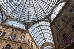 Galleria Umberto I, public shopping and art gallery in Naples, I Royalty Free Stock Image