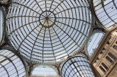 Galleria Umberto I, public shopping and art gallery in Naples, I Stock Image