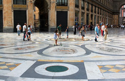 Shopping center Galleria Umberto, Naples, Italy Stock Image