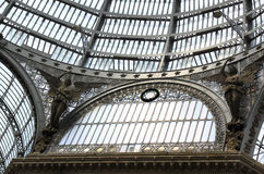 Glass dome of Galleria Umberto I, Naples, Italy Royalty Free Stock Photos