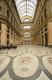 Galleria Umberto  Naples, Italy. Skylight and Mosaic tile Floor of the Umberto I Gallery in Naples, Italy Royalty Free Stock Photo