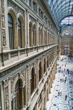 Arched windows in Galleria Umberto, Naples, Italy Stock Photography