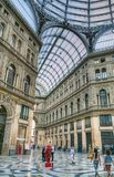 Galleria Umberto and street artists, Naples, Italy Royalty Free Stock Photos