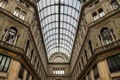Galleria Umberto Primo in Naples. Indoor view of the Galleria Umberto Primo in Naples in Italy Royalty Free Stock Photo