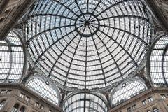 Galleria Umberto Primo in Naples. View of the Galleria Umberto Primo in Naples in Italy Stock Image
