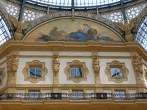 Galleria Vittoria Emanuele II Shopping Mall Royalty Free Stock Photography