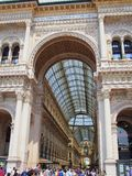Galleria Vittoria Emanuele II Shopping Mall, Milan, Italy Stock Photos