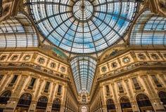 Galleria Vittorio Emanuele ΙΙ που ψωνίζει arcade, Μιλάνο, Ιταλία Στοκ Φωτογραφία