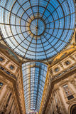 Galleria Vittorio Emanuele ΙΙ που ψωνίζει arcade, Μιλάνο, Ιταλία Στοκ εικόνες με δικαίωμα ελεύθερης χρήσης