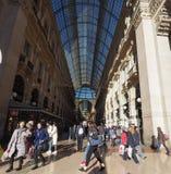 Galleria Vittorio Emanuele ΙΙ arcade στο Μιλάνο Στοκ φωτογραφία με δικαίωμα ελεύθερης χρήσης