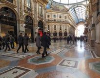 Galleria Vittorio Emanuele ΙΙ arcade στο Μιλάνο Στοκ εικόνα με δικαίωμα ελεύθερης χρήσης
