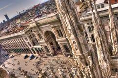 Galleria Vittorio Emanuele Stock Afbeeldingen