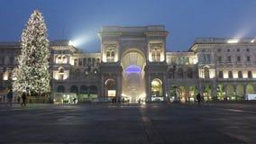 Galleria Vittorio Emanuele with Christmas tree Royalty Free Stock Photos