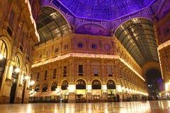 Galleria Vittorio Emanuele em Milão foto de stock