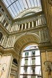 Galleria Vittorio Emanuele em Nápoles Imagem de Stock