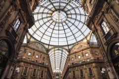Galleria Vittorio Emanuele II, в милане Стоковое Изображение RF