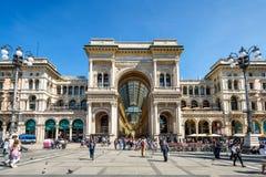 Galleria Vittorio Emanuele II в милане, Италии Стоковые Изображения
