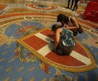 Galleria Vittorio Emanuele II, деталь Стоковые Изображения RF