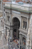 Galleria Vittorio Emanuele II - Милан Стоковые Фото