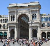 Galleria Vittorio Emanuele II, экстерьер Стоковое Фото